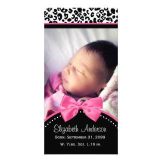 Anúncio chique do nascimento da foto do bebê do im cartão com foto