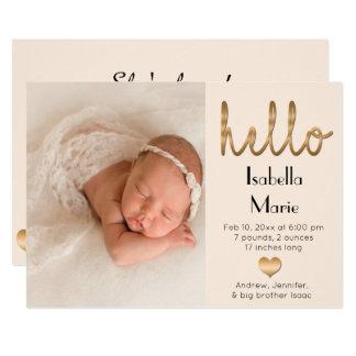 Anúncio chique do nascimento do bebé