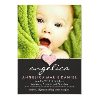 Anúncio chique simples do bebê convites personalizado