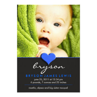 Anúncio chique simples do bebê convite personalizado