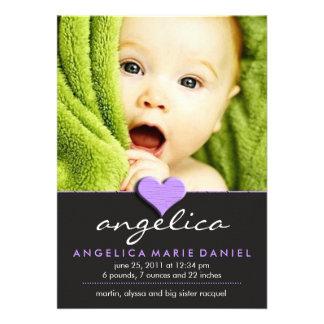 Anúncio chique simples do bebê convite personalizados