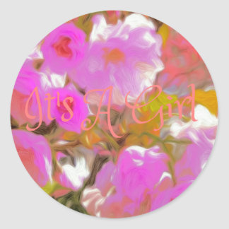 Anúncio contemporâneo floral cor-de-rosa é uma adesivo