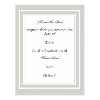 Anúncio/convite feitos sob encomenda da graduação cartão postal