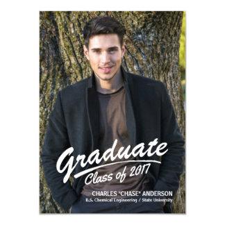 Anúncio corajoso graduado da foto do curso da