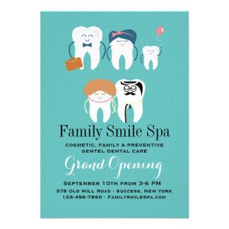 Anúncio da abertura do escritório da odontologia convites