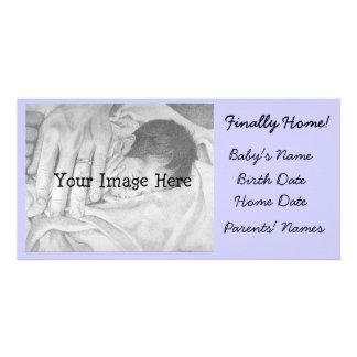 Anúncio da adopção finalmente Home Cartão Com Foto
