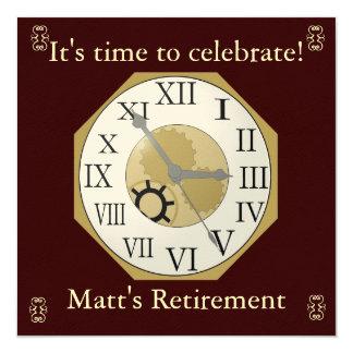 Anúncio da aposentadoria convites