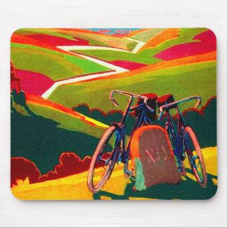 Anúncio da bicicleta do vintage - bicicleta no mouse pad