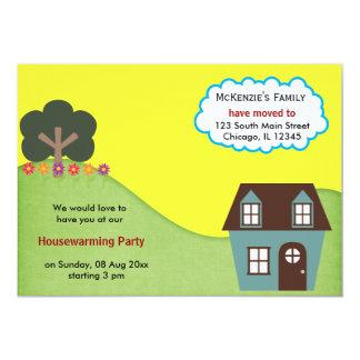 Anúncio da casa aberta convite personalizados