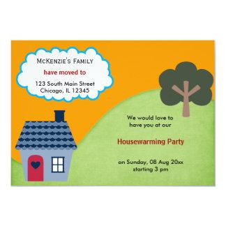 Anúncio da casa aberta convite 12.7 x 17.78cm