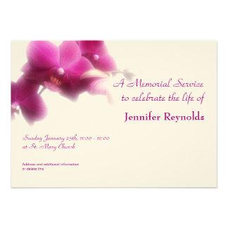 Anúncio da cerimonia comemorativa convites personalizado