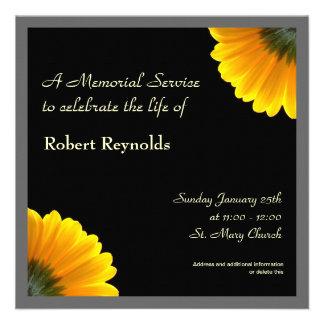 Anúncio da cerimonia comemorativa convites