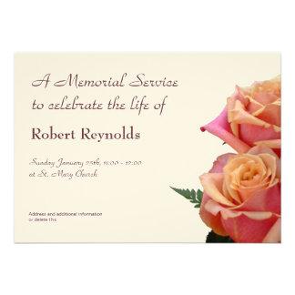 Anúncio da cerimonia comemorativa convite