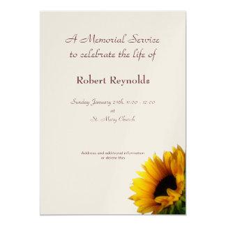 Anúncio da cerimonia comemorativa convite 12.7 x 17.78cm