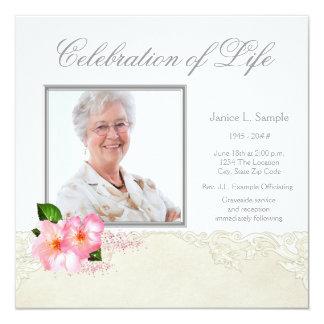 Anúncio da cerimonia comemorativa da foto da convite quadrado 13.35 x 13.35cm