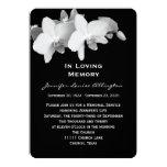 Anúncio da cerimonia comemorativa - orquídeas convite personalizados