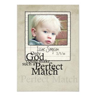 anúncio da foto da adopção convite 12.7 x 17.78cm