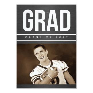 Anúncio da foto da graduação dos homens convite 12.7 x 17.78cm