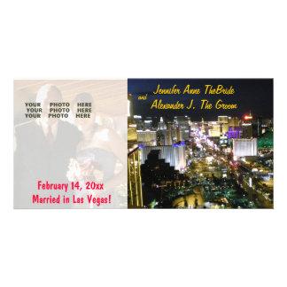 Anúncio da foto do casamento de Las Vegas Cartão Com Foto
