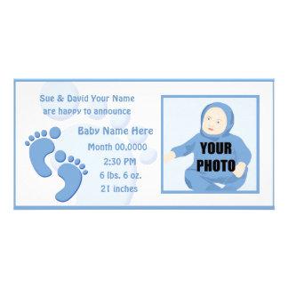 Anúncio da foto do nascimento dos pés da pegada do