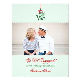 Anúncio da foto do noivado do visco convite personalizados