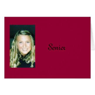 Anúncio da graduação cartão comemorativo