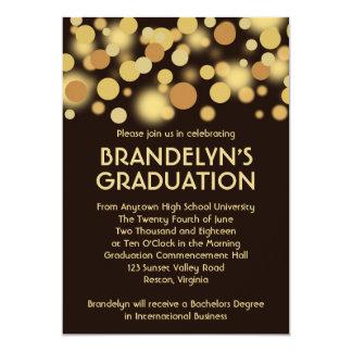 Anúncio da graduação da celebração do ouro de convite 12.7 x 17.78cm