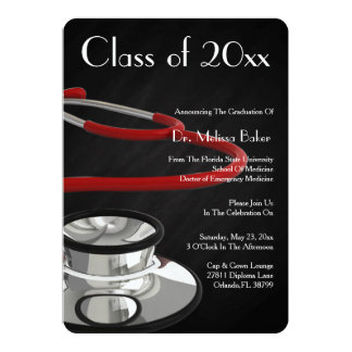 Anúncio da graduação da Faculdade de Medicina do
