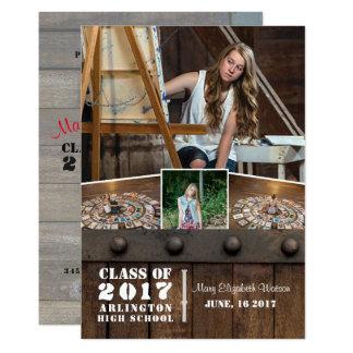 Anúncio da graduação da foto