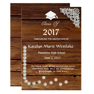 anúncio da graduação da madeira 20XX, do laço & Convite 12.7 X 17.78cm