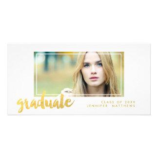 Anúncio da graduação do formando | do ouro cartão com foto