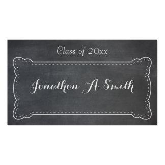 Anúncio da graduação do quadro-negro cartão de visita