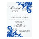 Anúncio da graduação do redemoinho da prata dos convite 12.7 x 17.78cm