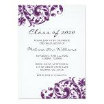 Anúncio da graduação do redemoinho do roxo e do convites