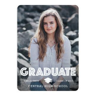 Anúncio da graduação - gradue-se & comemore-se convite 12.7 x 17.78cm