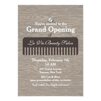 Anúncio da grande inauguração do salão de beleza convite 12.7 x 17.78cm