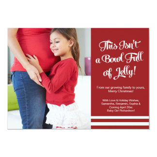Cartão Anúncio da gravidez da geléia que espera o boletim