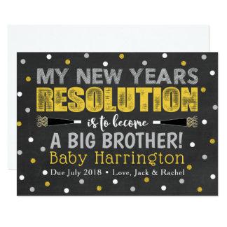 Anúncio da gravidez do ano novo do irmão