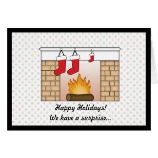 Anúncio da gravidez do cartão de Natal
