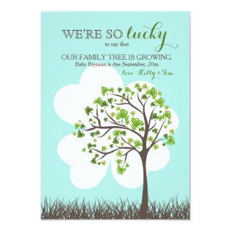 Anúncio da gravidez do dia de St Patrick Convite 12.7 X 17.78cm