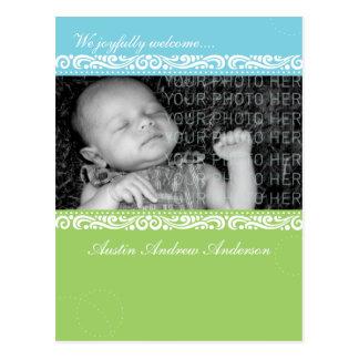 Anúncio da moldura para retrato do bebê cartão postal