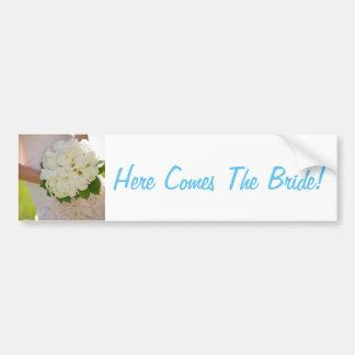 Anúncio da noiva adesivo para carro