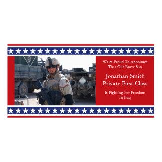 Anúncio das forças armadas da bandeira dos Estados Cartões Com Fotos