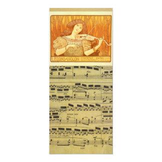 Anúncio das lições de violino do francês | do