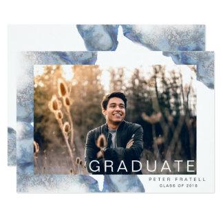 Anúncio de mármore azul da graduação de Ombre