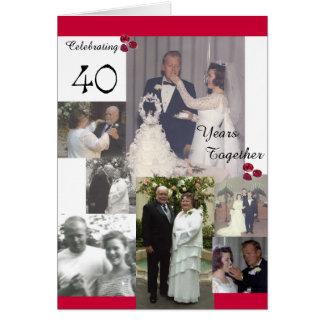 Anúncio do aniversário de McGowen 40th Cartão Comemorativo