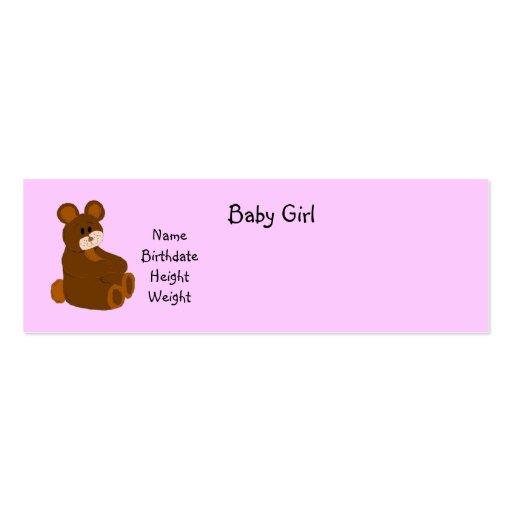 Anúncio do bebé modelos cartão de visita