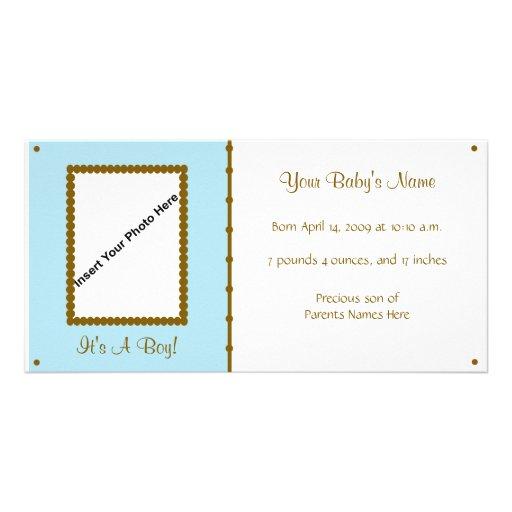 Anúncio do bebé cartao com foto personalizado