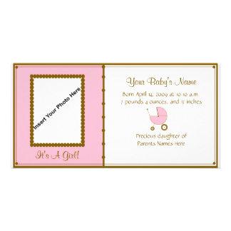 Anúncio do bebé cartao com fotos