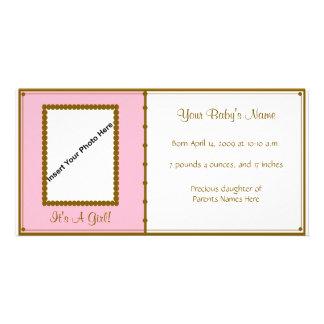 Anúncio do bebé cartões com fotos personalizados